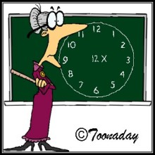 Toonaday teacher times tables blackboard