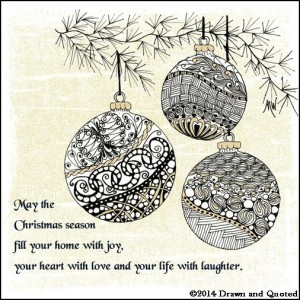 Zentangle Christmas ornaments