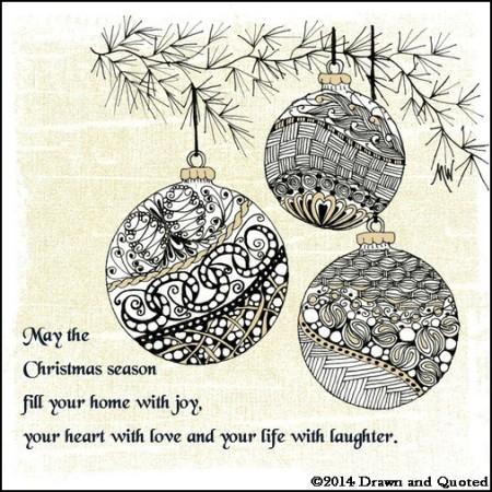 Zentangle Christmas ornaments