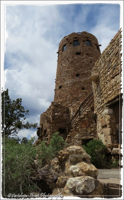 place tower clouds Grand Canyon