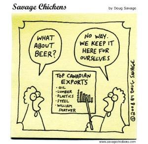 Savage Chickens beer