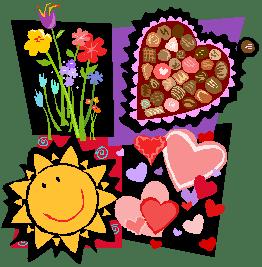 cartoon heart Valentine