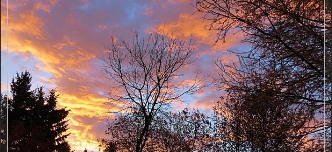 orange pink clouds Alberta