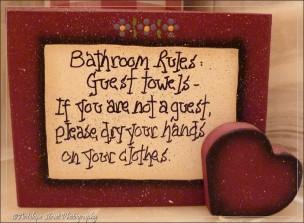 towels sign