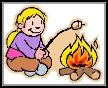 child fire roasting