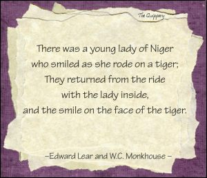 There was a young lady of Niger